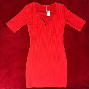 Peppermint Red Minidress
